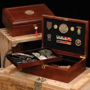 Custom Made Military Wood Case, Great Seal Insignia Box, Military Case