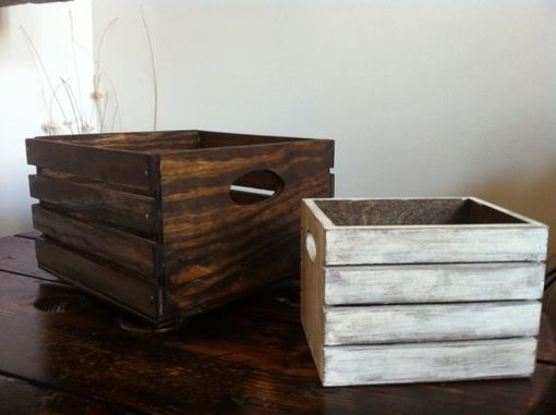 Custom Made Rustic Wood Centerpiece Box