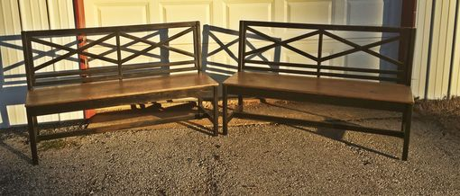 Custom Made Square Pedestal Dining Table