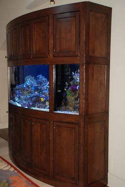Custom Made Rustic Radius Aquarium Stand/Cabinet Unit