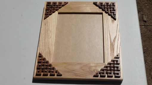 Custom Made 8x10 Ash/Walnut Picture Frame With Celtic Knotwork Overlays