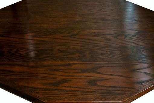Custom Made Facetted Pedestal Table