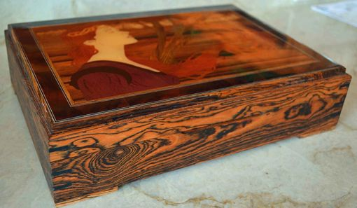 Custom Made Art Nouveau Jewelry Or Keepsake Box