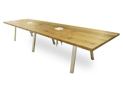 Custom Made Chicago Industrial Modern Conference Table