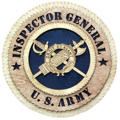 Custom Made Inspector Genral U.S. Army Wall Tribute, Inspector Genral U.S. Army Hand Made Gift