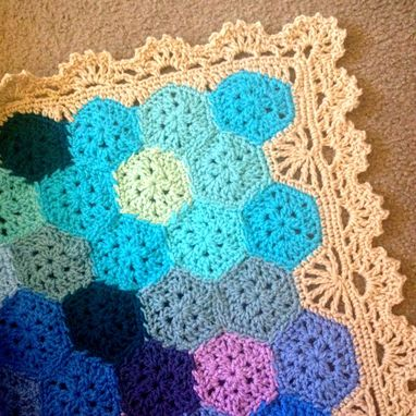 Custom Made Babylove Brand Geometric Lace Blanket