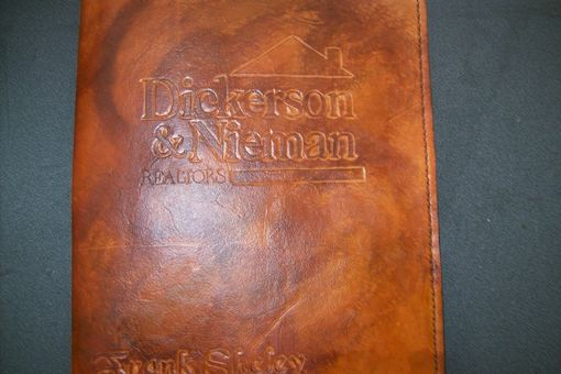 Custom Made Custom Leather Portfolio With Logo And Personalization