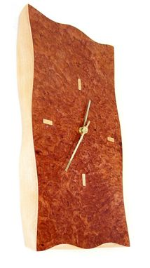 Custom Made Wood Clock - Burl Veneer