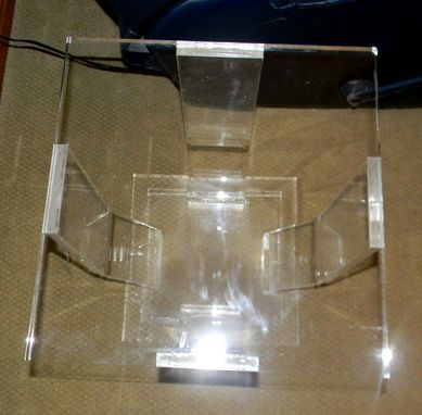 Custom Made Acrylic Formed Leg Side Table - Hand Crafted, Custom Made