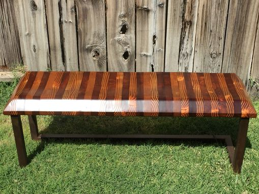 Custom Made Modern Sculpted Bench