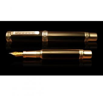 Custom Made Hand Made Wooden Fountain Pen - Gaboon Ebony - Africa