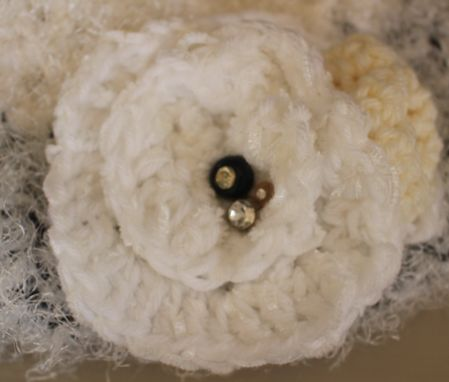 Custom Made Sold ~ Vintage Buttons, Fiber Art, Crochet Hat ~ Sold