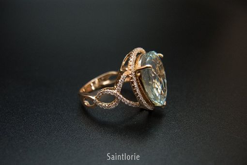 Custom Made 9.5 Carat Aquamarine Engagement Ring