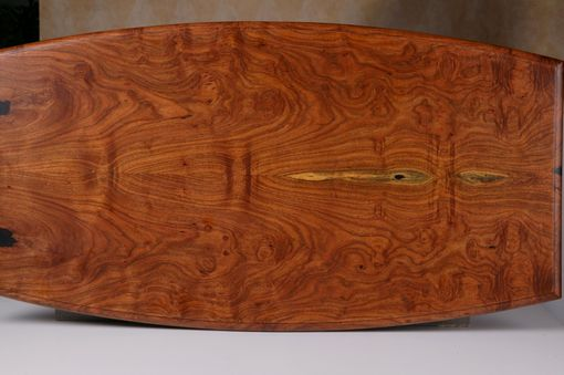 Custom Made Bookmatched Texas Burl Mesquite Coffee Table (The Travis)