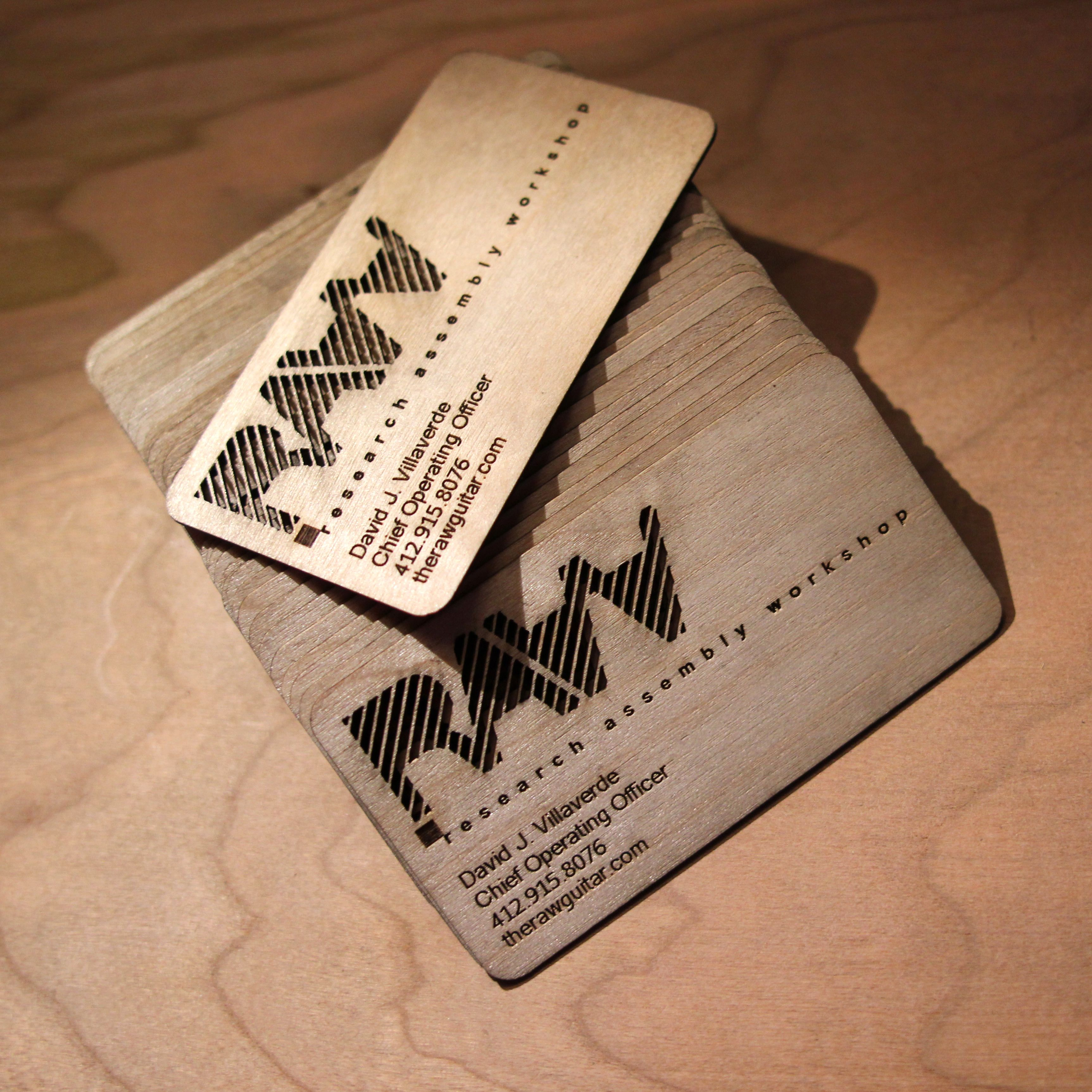 Hand Crafted Wooden Business Cards by Naked Geometry | CustomMade.com