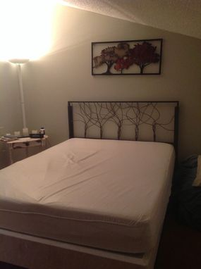 Custom Made Artistic Steel Rod Headboard