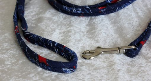 Custom Made Dog Leash. Fabric Wrapped Clothesline. Small Dog. Durable