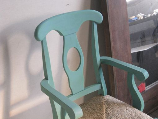 Custom Made Blue Dining Chair - Harp Chair