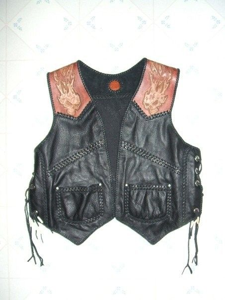 Hand Crafted Custom Ladies Leather Vest Waistcoat By