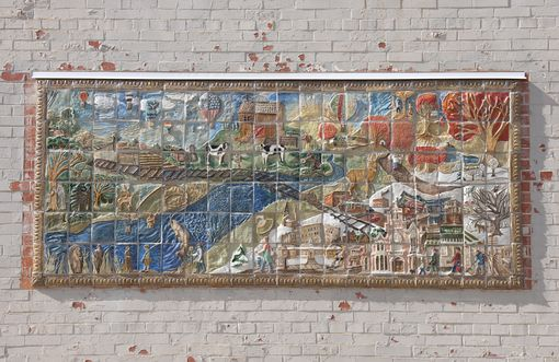 Custom Made Town Community Tile Mural Project