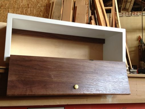Custom Made Small Floating Bathroom Shelf/Cabinet