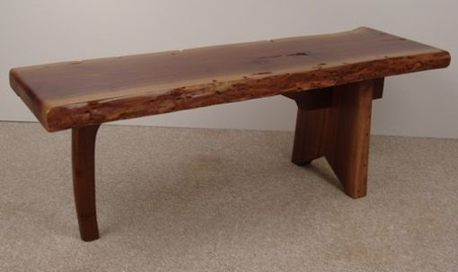 Custom Made Free Form Walnut Coffee Table