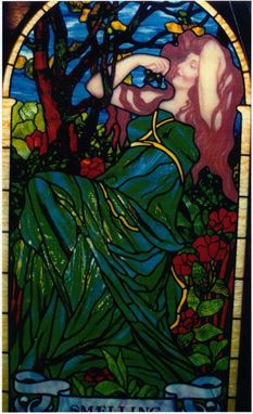 "Custom Made ""Smelling"" Stained Glass Panel"