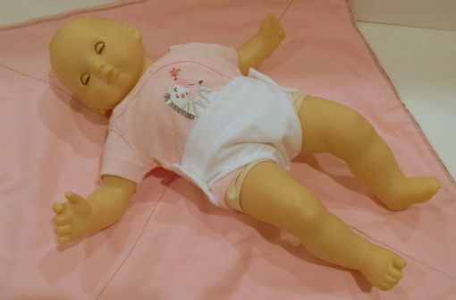 "Custom Made Brown And Pink Baby Doll Set ""Little Mommy & Me''"