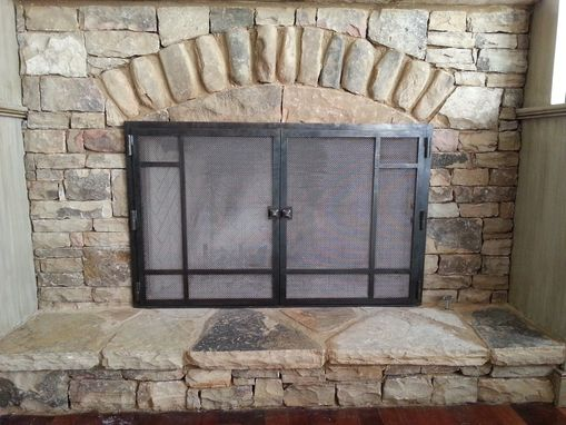 Custom Made Custom Hand Forged Fire Screens
