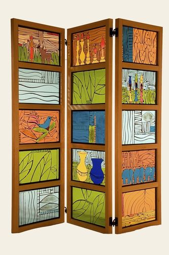 Hand Made India Inspired 3 Piece Room Divider Screen by Tammy