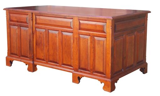 Custom Made Double Pedestal Desk