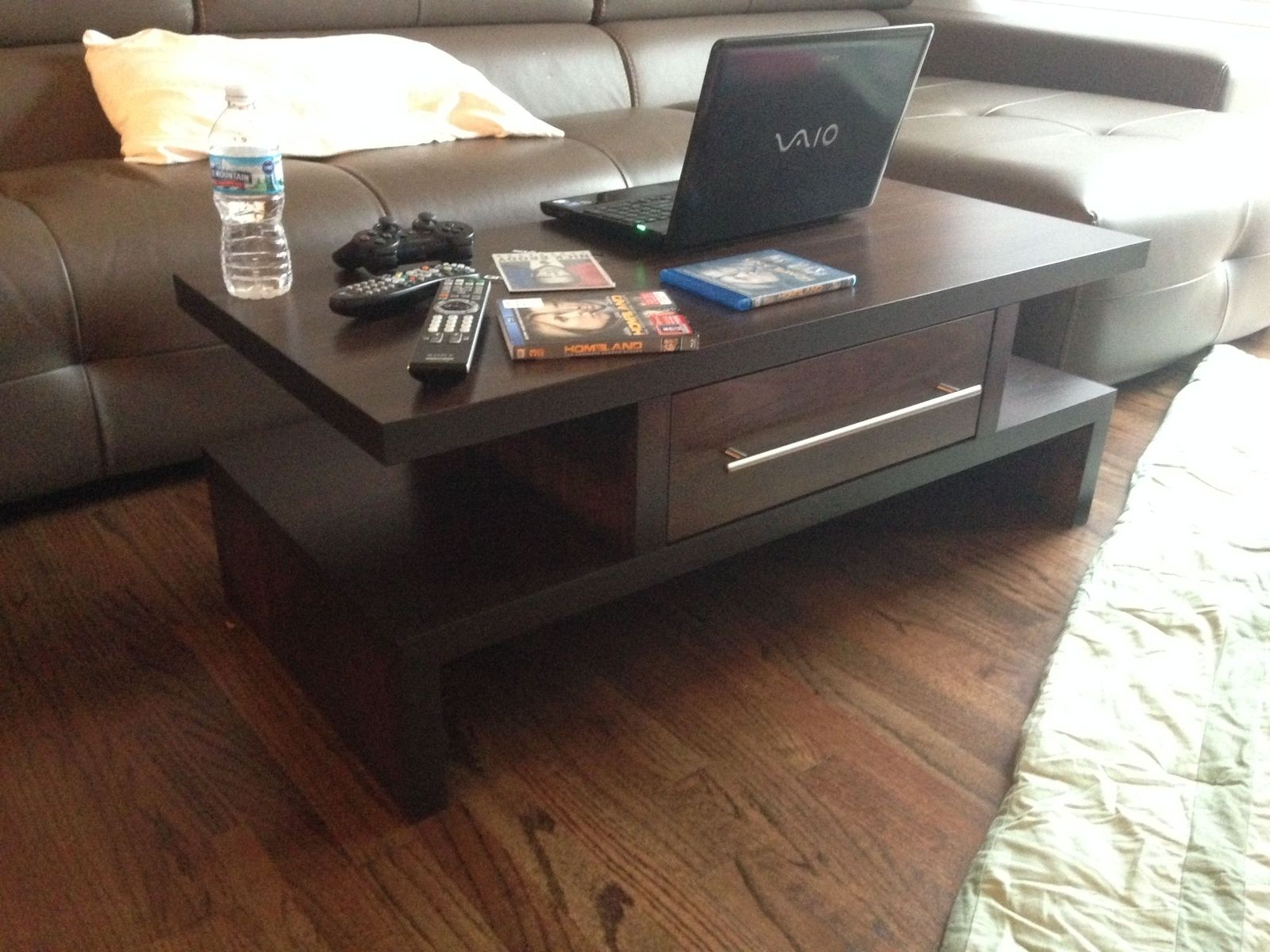 Custom Made Java Espresso Coffee Table W Drawers by MAD Custom