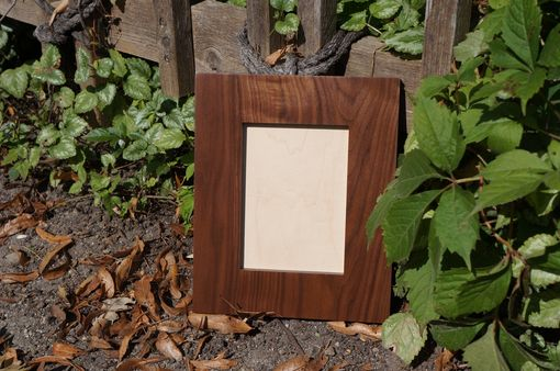 Custom Made Solid Walnut Picture Frame For 5 X 7 Photo