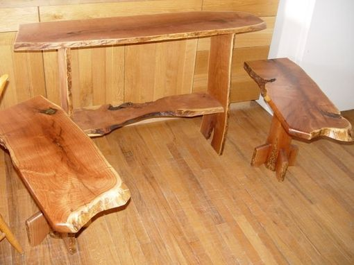 Custom Made Mesquite Sofa Table And End Tables
