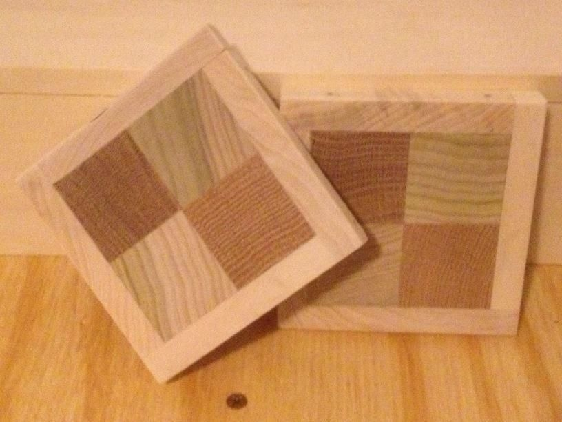 Hand Made Handcrafted Wooden Checkerboard Coasters by Kevin Davis ...