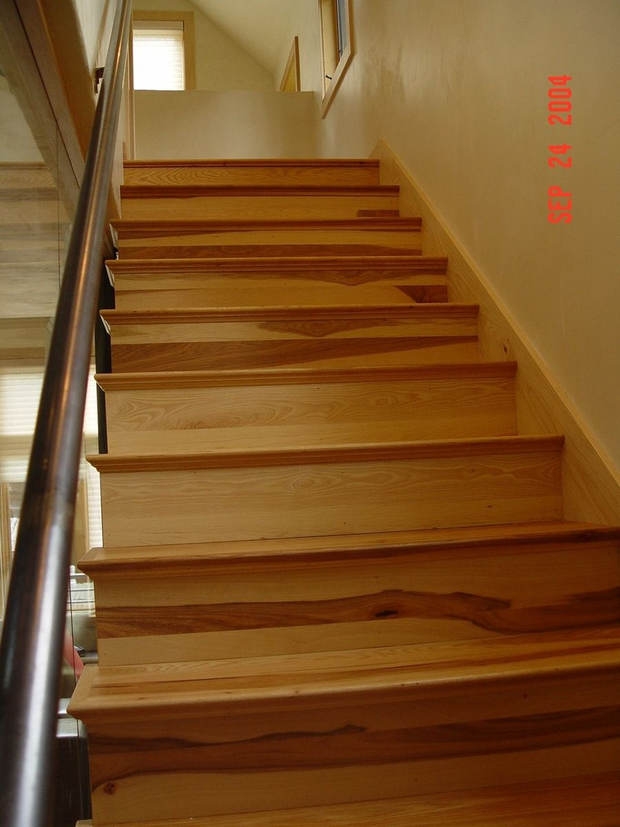 Hand Crafted Contemporary Hickory Stair Case By Furniture