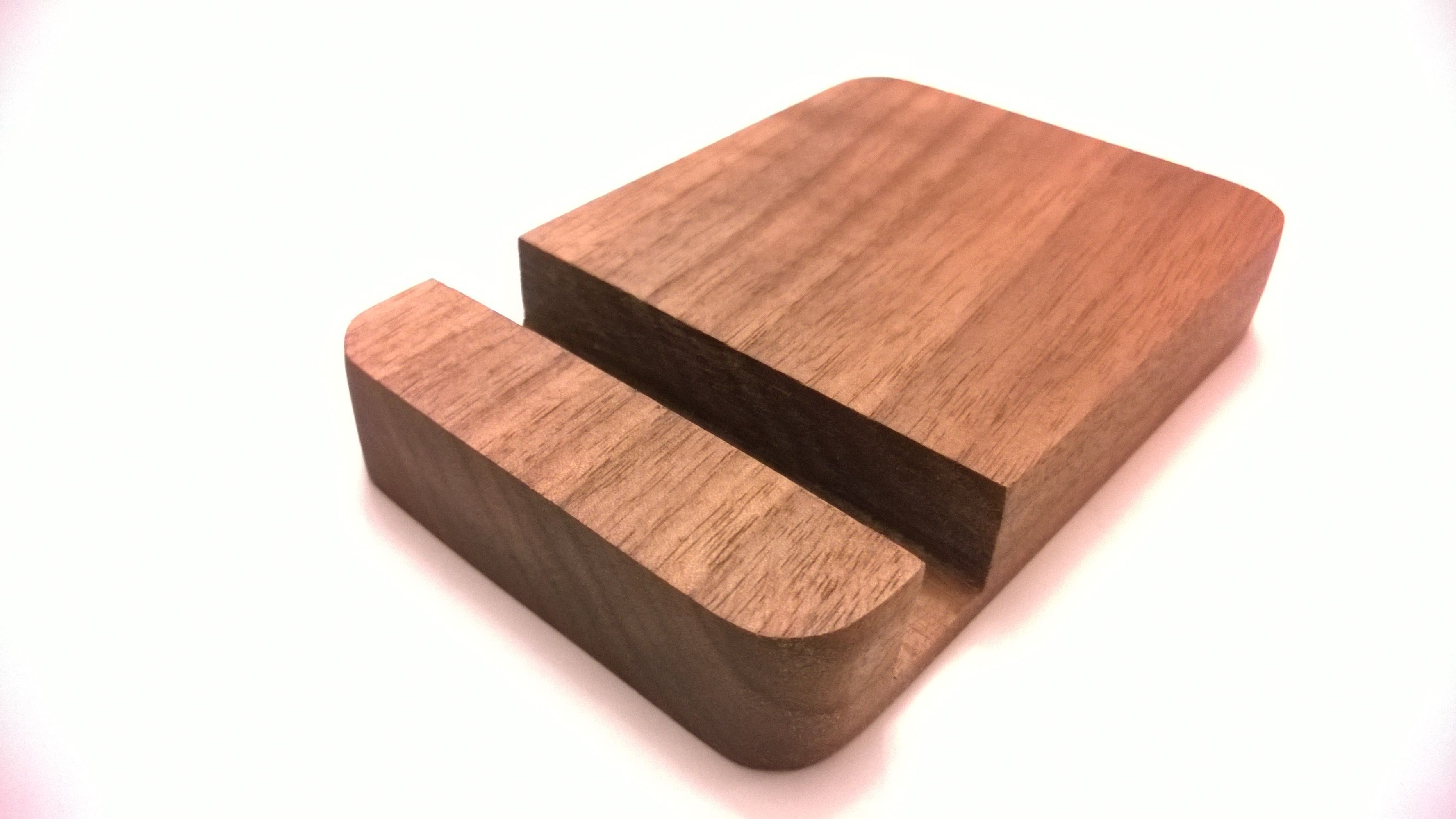 Custom made handcrafted iphone dock wooden phone