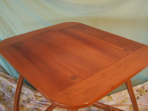 Custom Made Cherry Cafe Table Set