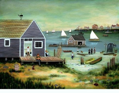 "Custom Made ""Low Tide On Easy Street"" - Limited Edition Giclee Print By J.L. Munro"
