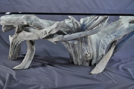 Handmade Sun Bleached Driftwood Coffee Table By Driftwood