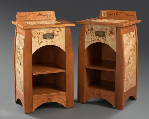 Custom Made Rose & Stem Night Stands