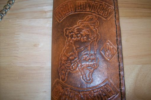 Custom Made Custom Leather Biker Wallet For Soldiers