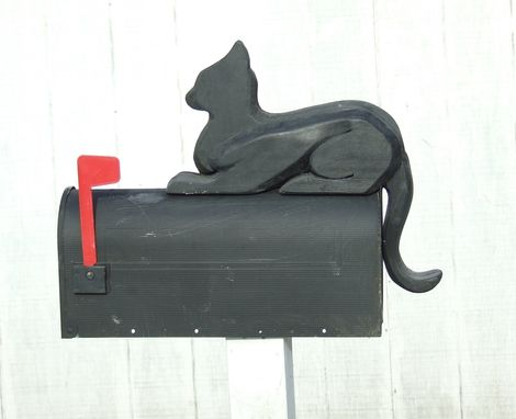 Custom Made Cat Mailbox Art