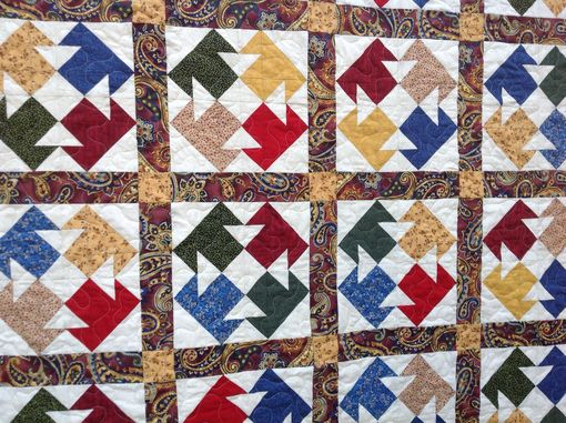 "Custom Made ""The Tamale Quilt"" Vibrant Patchwork Design With Applique Work Inspired By The Book"