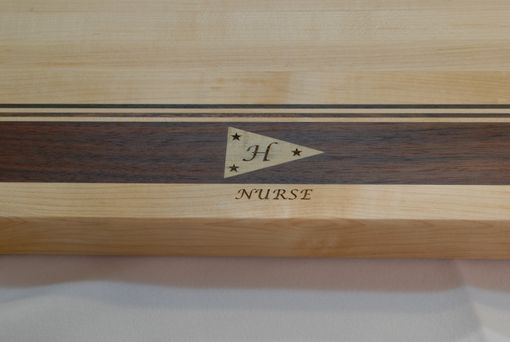 Custom Made Maple Walnut Edge Grain Cutting Board - Personalized Engraving