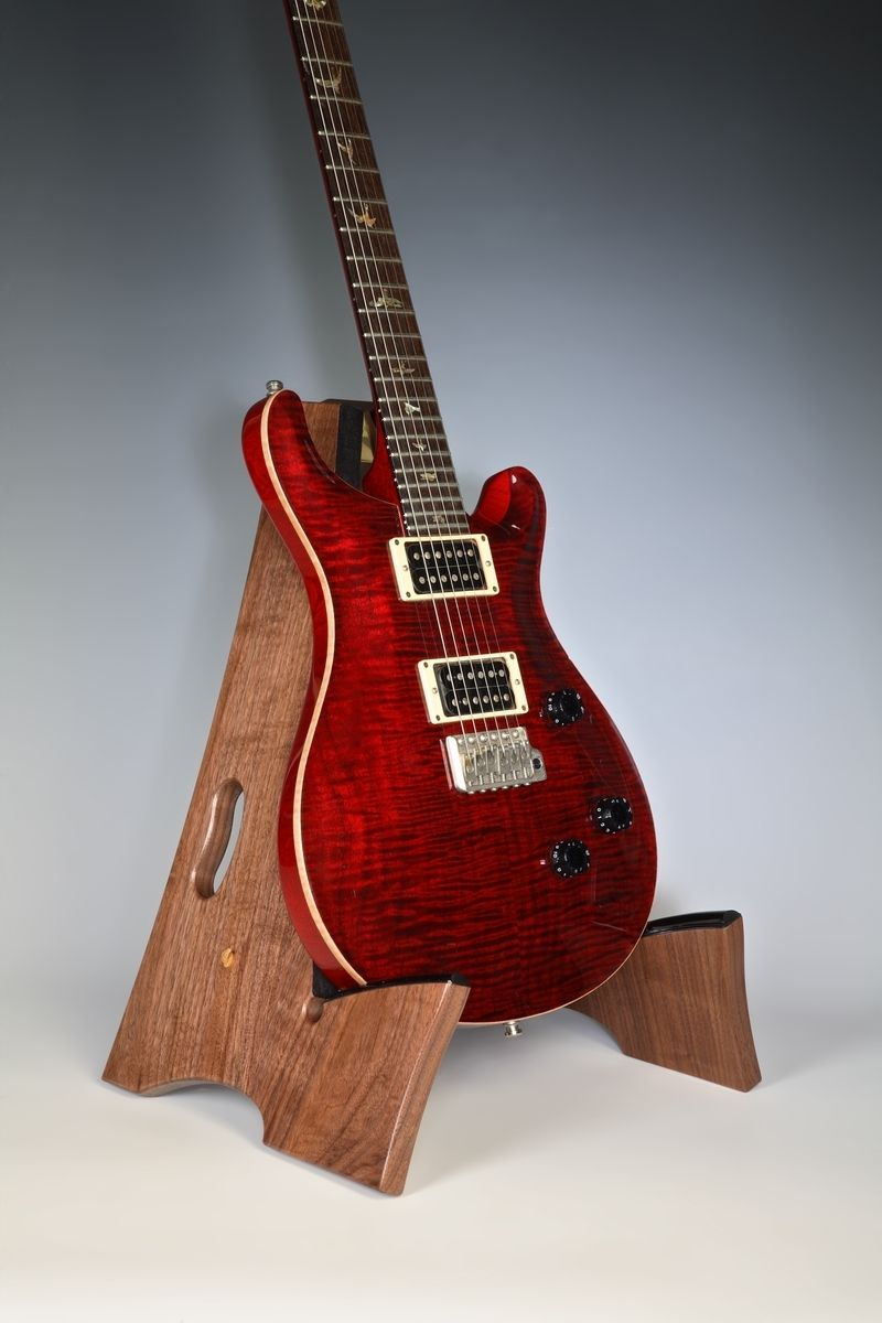 Custom Made Slay Frame Wooden Guitar Stand By Ds Design