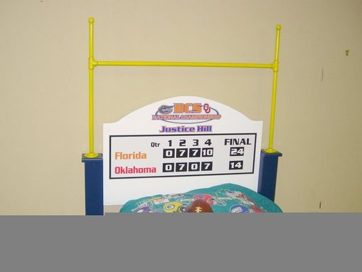 Custom Made Football Bed