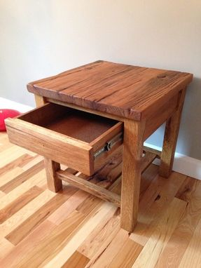Custom Made Reclaimed Barnwood Side Table