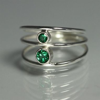Custom Made 2 Stone Sequence Ring (Emerald) Size 7