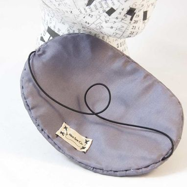 Custom Made Fascinator Grey Silk Beaded Salt